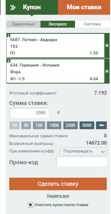Купон Мелбет