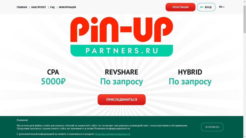 Партнерская программа Pin Up Partners
